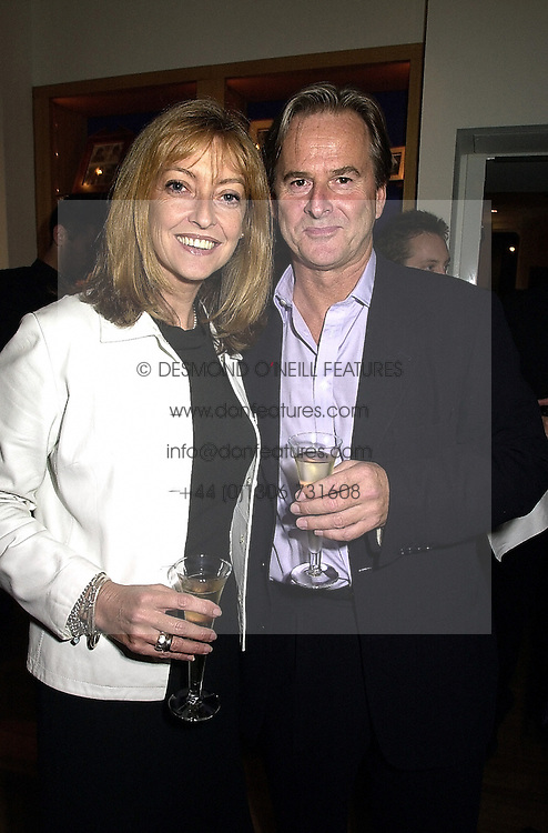 Actress SHARON MAUGHAN and her husband actor TREVOR EVE, at a reception in London on 26th September 2000.OHI 44