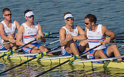 Rotterdam. Netherlands. Semi final A/B2. GBR BM4X, Harry Leask, Rowan Law, Harry Glenister and Andrew Joel. 2016 JWRC, U23 and Non Olympic Regatta. {WRCH2016} at the Willem-Alexander Baan.   Tuesday  23/08/2016 <br /> <br /> [Mandatory Credit; Peter SPURRIER/Intersport Images]