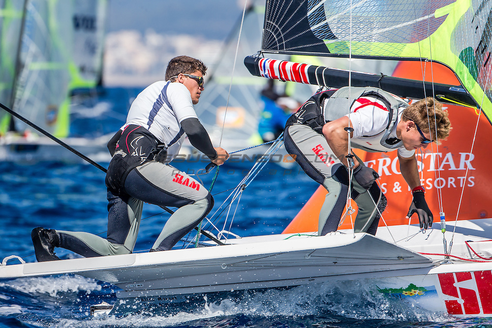 47 Trofeo Princesa Sofia IBEROSTAR, bay of Palma, Mallorca, Spain, takes<br /> place from 25th March to 2nd April 2016. Qualifier event for the Rio 2016<br /> Olympic Games. Almost 800 boats and over 1.000 sailors from to 65 nations<br /> &copy;Jesus Renedo/Sailing Energy/Sofia