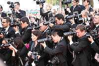 Photographers  at the gala screening Madagascar 3: Europe's Most Wanted at the 65th Cannes Film Festival. On Friday 18th May 2012 in Cannes Film Festival, France.