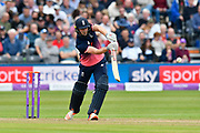 Chris Woakes of England batting during the One Day International match between England and West Indies at the Brightside County Ground, Bristol, United Kingdom on 24 September 2017. Photo by Graham Hunt.