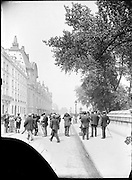 news photographers at work by Gare D'Orsay Paris around 1900