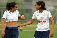 20091211: SAO PAULO, BRAZIL - Brazil National Women Football Team training in Sao Paulo. In picture: Marta (L). PHOTO: CITYFILES