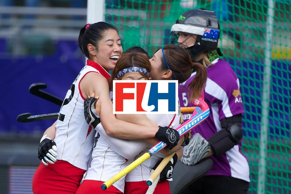 07 AUS vs JPN (3-2): NAGAI Yuri congratulated by its teammates