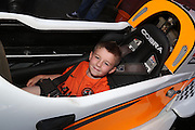 Five year old Joey Turnbull in the Formula 3 car - Dundee United open day at Tannadice<br /> <br />  - Pictures © David Young