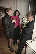 Nadine Fedotova, Anali Albert and James Wong, THE CHRISTMAS PARTY CELEBRATING THE 225TH ANNIVERSARY OF ASPREY. 167 NEW BOND ST. LONDON W1. 7 DECEMBER 2006. ONE TIME USE ONLY - DO NOT ARCHIVE  © Copyright Photograph by Dafydd Jones 248 CLAPHAM PARK RD. LONDON SW90PZ.  Tel 020 7733 0108 www.dafjones.com