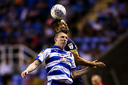 Bradley Johnson of Derby County challenges Jon Dadi Bodvarsson of Reading - Mandatory by-line: Robbie Stephenson/JMP - 03/08/2018 - FOOTBALL - Madejski Stadium - Reading, England - Reading v Derby County - Sky Bet Championship