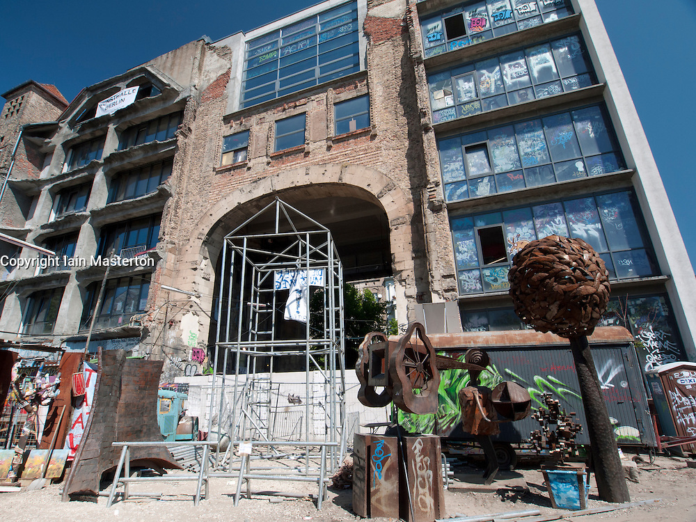 The Tacheles Kunsthaus or Art Gallery alternative collective on Oranienburger strasse. in Mitte Berlin Germany