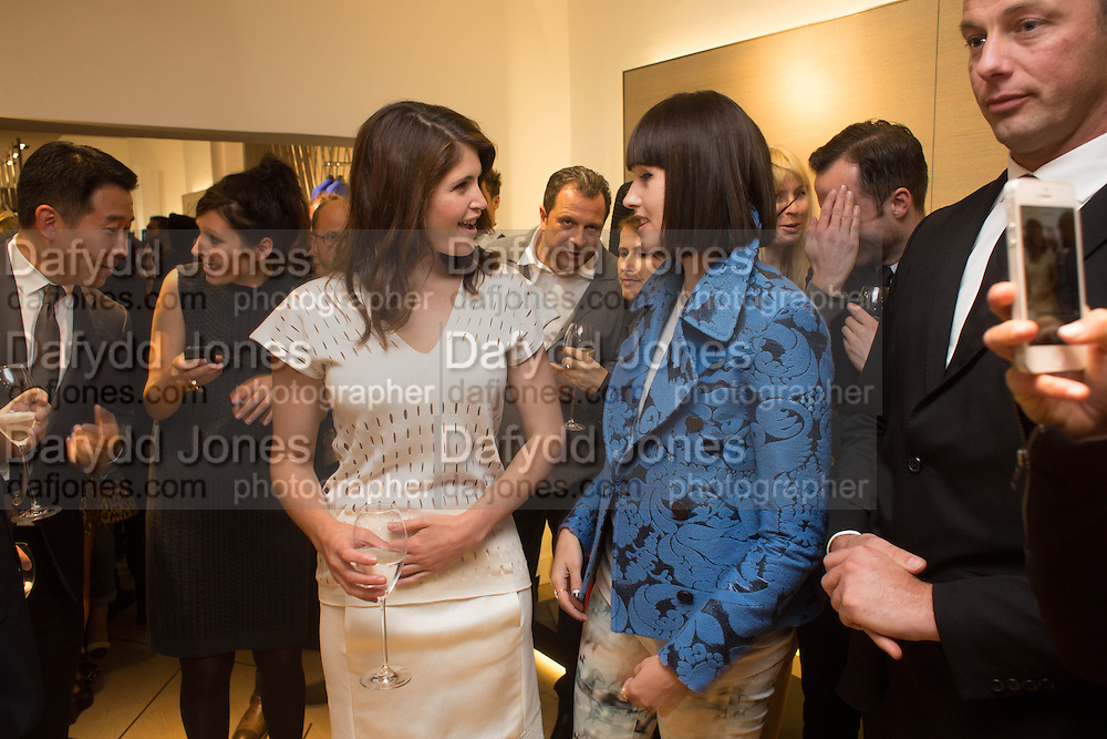 GEMMA ARTERTON; CAREY MALNICHUK, Pringle launch party, Mount St. London. 16 September 2013