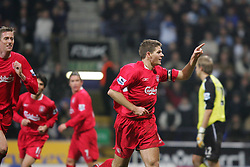 BOLTON, ENGLAND - MONDAY, JANUARY 2nd, 2006: Liverpool's Steven Gerrard celebrates scoring the equalising goal from the penalty spot during the Premiership match against Bolton Wanderers at the Reebok Stadium. (Pic by David Rawcliffe/Propaganda)