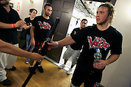To the winner go the spoils, Brian Kononchik receives his winner katana after defeating Al Martinez in the ring.