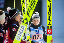 KRIZNAR Nika  celebrates after Day 1 of FIS Ski Jumping World Cup Ladies Ljubno 2020, on February 22th, 2020 in Ljubno ob Savinji, Ljubno ob Savinji, Slovenia. Photo by Matic Ritonja / Sportida