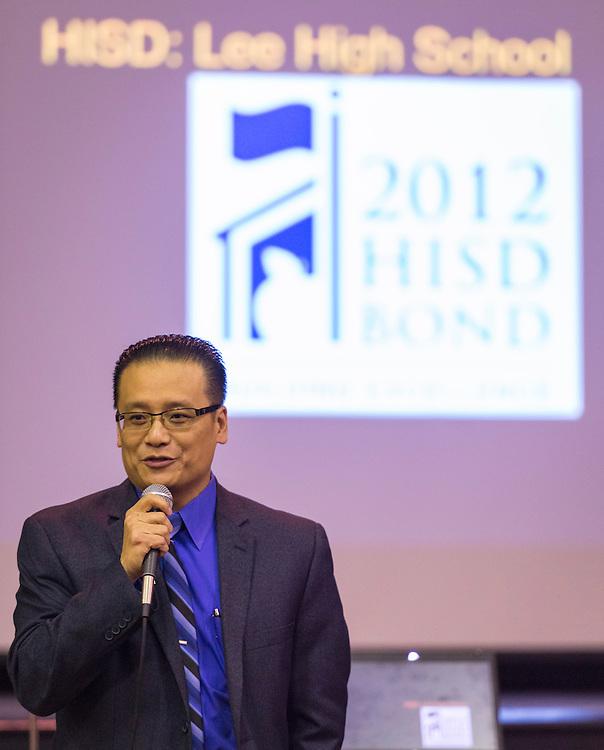 Bond community meeting at Lee High School, October 20, 2014.