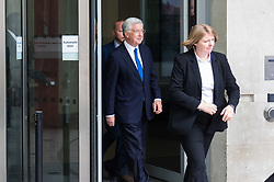 London June 11th 2017. Defence Secretary Michael Fallon leaves the BBC in London after appearing on the Andrew Marr Show.