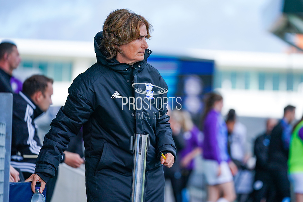 Marta Tejedor of Birmingham City Women (Manager) during the FA Women's Super League match between Manchester City Women and BIrmingham City Women at the Sport City Academy Stadium, Manchester, United Kingdom on 12 October 2019.