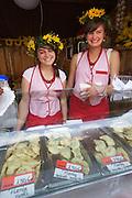 Poland, Krakow. Pierogi Festival at Maly Rynek.