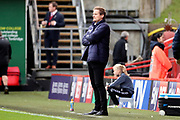 AFC Wimbledon manager Neal Ardley on the touchline during the EFL Sky Bet League 1 match between Charlton Athletic and AFC Wimbledon at The Valley, London, England on 28 October 2017. Photo by Matthew Redman.