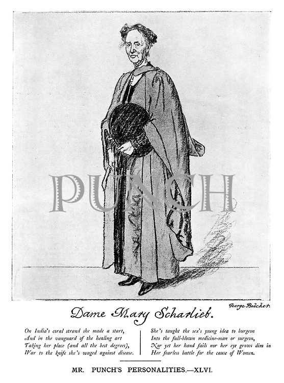 Dame Mary Scharlieb. Mr Punch's Personalities. - XLVI.