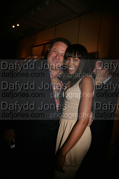 Jean Pigozzi and Naomi Campbell, Party for Jean Pigozzi hosted by Ivor Braka to thank him for the loan exhibition 'Popular Painting' from Kinshasa'  at Tate Modern. Cadogan sq. London. 29 May 2007.  -DO NOT ARCHIVE-© Copyright Photograph by Dafydd Jones. 248 Clapham Rd. London SW9 0PZ. Tel 0207 820 0771. www.dafjones.com.
