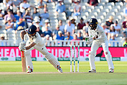 Wicket - Alastair Cook of England is bowled by Ravichandran Ashwin of India during second day of the Specsavers International Test Match 2018 match between England and India at Edgbaston, Birmingham, United Kingdom on 2 August 2018. Picture by Graham Hunt.