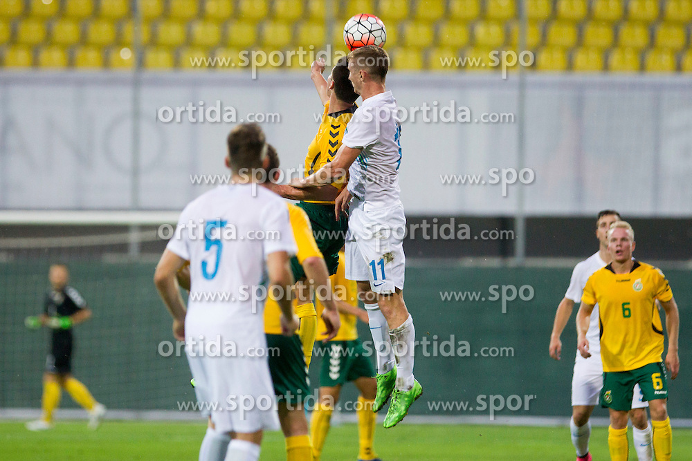 Ziga Kastrevec #11 of Slovenia during football match between U21 National Teams of Slovenia and Lithuania in 2nd Round of UEFA 2017 European Under-21 Championship Qualification on September 4, 2015 in Arena Petrol, Celje, Slovenia. Photo by Urban Urbanc / Sportida