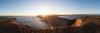 Chimney Rock Panoramic at Sunset, Point Reyes National Seashore, California