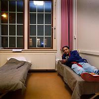 Nederland, Amsterdam 30 november 2014. <br /> Winteropvang in onlangs gesloten Valeriuskliniek op het Valeriusplein<br /> Foto:Jean-Pierre Jans