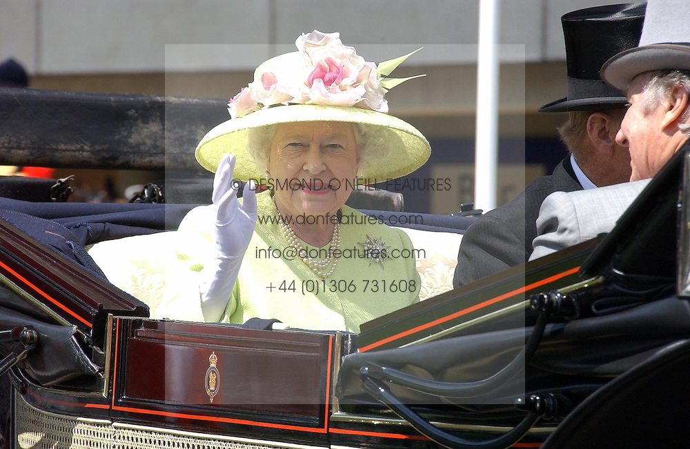 HM THE QUEEN  at the 3rd day - Ladies Day of Roayl Ascot 2006 on 22nd June 2006.<br />