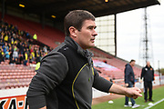 Burton Albion manager Nigel Clough during the EFL Sky Bet Championship match between Barnsley and Burton Albion at Oakwell, Barnsley, England on 29 April 2017. Photo by Richard Holmes.