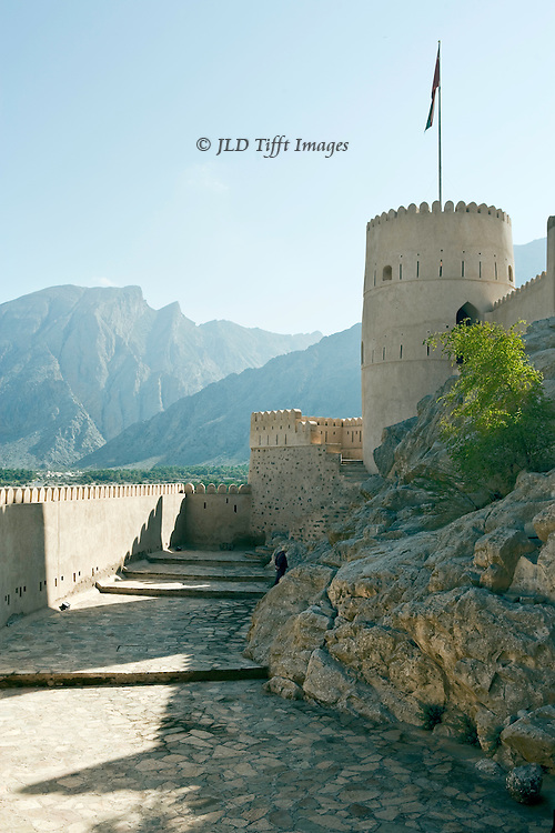 Oman, Nakhl fortress.  Built by Al Arabiyah dynasty imam who threw the Portuguese out of Oman in the 1640s.  Used until the 1950s as the residence of the local wali (governor). Restored in the 1990s.