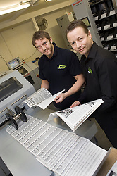 Dave Wilson and Managing Director Chris Gray LOOP printers Harvest Lane Sheffield S3 8EG  Business Link Yorkshire Case Study..13  May 2010 .Images © Paul David Drabble.