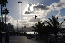 View of the promenade on the sea front in the Canary Islands,