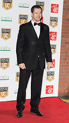 © Licensed to London News Pictures . 27/03/2014 . Manchester , UK . Andy Farrell arrives at a gala dinner at Manchester United Football Club in support of United for Colitis , in aid of Crohn's And Colitis UK . Photo credit : LNP