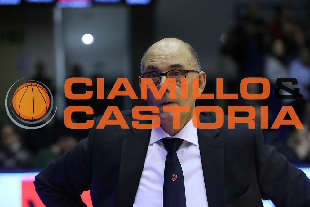 Attilio Caja<br /> Grissin Bon Reggio Emilia - Openjobmetis Pallacanestro Varese<br /> LegaBasket Serie A 2017/2018<br /> Reggio Emilia, 16/12/2017<br /> Foto Ciamillo-Castoria