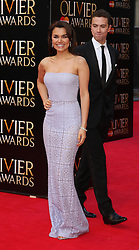 SAMANTHA BARKS AND RICHARD FLEISHMAN attends The Laurence Olivier Awards at the Royal Opera House, London, United Kingdom. Sunday, 13th April 2014. Picture by i-Images