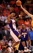 May 25, 2010; Phoenix, AZ, USA; Phoenix Suns guard Leandro Barbosa (10) makes a pass during the fourth quarter in game four of the western conference finals in the 2010 NBA Playoffs at US Airways Center.  The Suns defeated the Lakers 115 - 106.  Mandatory Credit: Jennifer Stewart-US PRESSWIRE