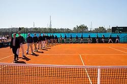 Opening ceremony during Davis Cup 2018 Europe/Africa zone Group II between Slovenia and Turkey, on April 7, 2018 in Portoroz / Portorose, Slovenia. Photo by Vid Ponikvar / Sportida