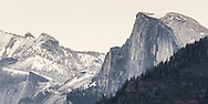 Half Dome at Yosemite National Park from Tunnel View. <br />