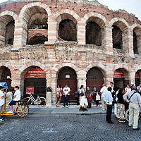 Arena Verona.Verona is a city in Veneton, Northern Italy home to approx. 265,000 inhabitants and one of the seven provincial capitals of the region. Verona has Roman origins and  derived importance from being at the intersection of many roads. It is world famous for the Arena and its Opera....***Agreed Fee's Apply To All Image Use***.Marco Secchi /Xianpix. tel +44 (0) 207 1939846. e-mail ms@msecchi.com .www.marcosecchi.com