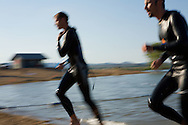 Racers compete in the Stroke-n-stride at the Boulder Reservoir in mid-summer