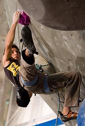 Winner Ramon Julian Puigblanque of Spain during Final IFSC World Cup Competition in sport climbing Kranj 2010, on November 14, 2010 in Arena Zlato polje, Kranj, Slovenia. (Photo By Vid Ponikvar / Sportida.com)