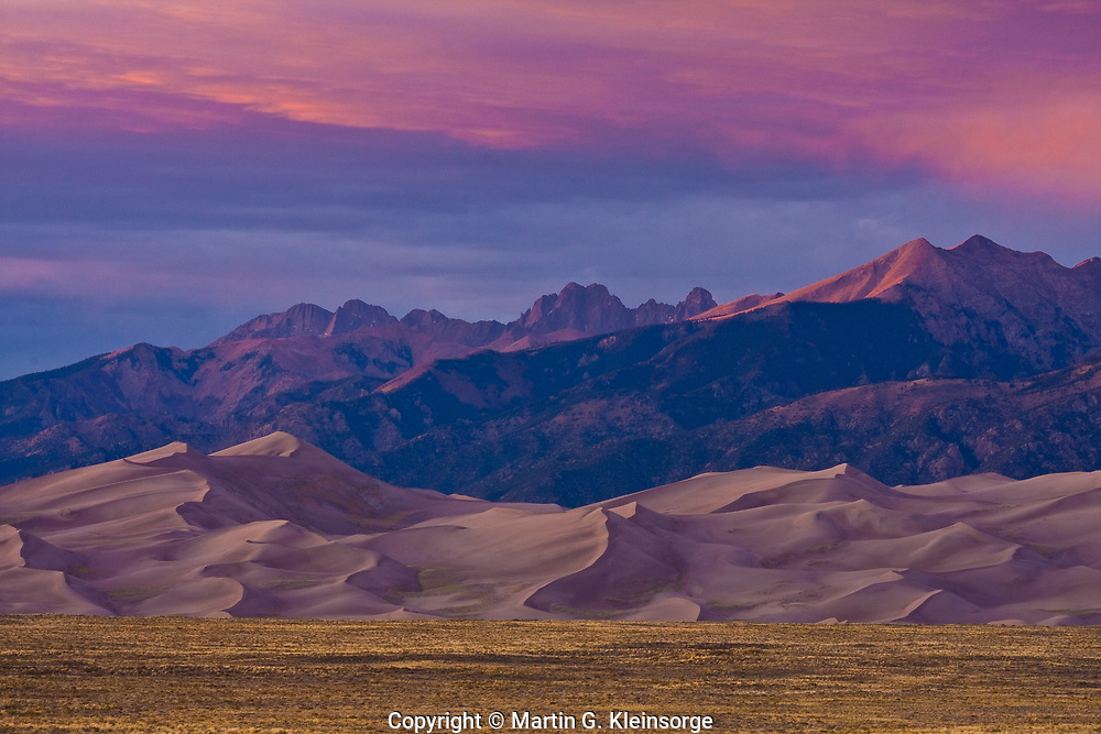 Sunset over the Great Sand Dunes National Park, Colorado.