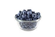 Freshly picked Fraser Valley Highbush Blueberries in a bowl