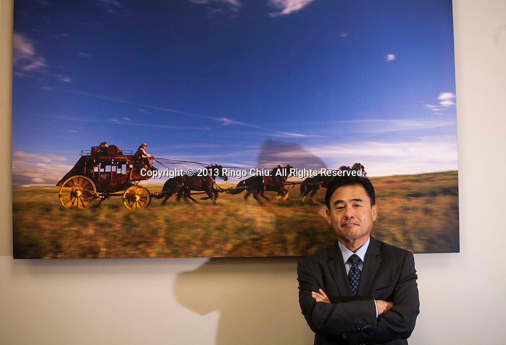 Sungsoo Han, commercial banker at Wells Fargo bank in Koreatown.(Photo by Ringo Chiu/PHOTOFORMULA.com)