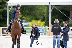 Devroe Jeroen, (BEL), Eres DL - Janssen Sjef, (NED) - De Bondt Carmen, (BEL)<br /> Alltech FEI World Equestrian Games™ 2014 - Normandy, France.<br /> © Hippo Foto Team - Leanjo de Koster<br /> 25/06/14