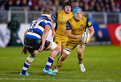 Olly Robinson of Bristol Rugby in action - Rogan Thomson/JMP - 18/11/2016 - RUGBY UNION - Recreation Ground - Bath, England - Bath Rugby v Bristol Rugby - Aviva Premiership.