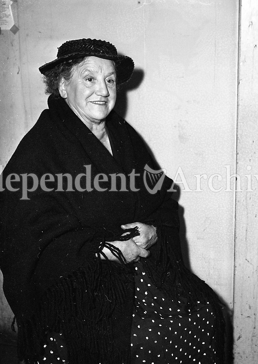 Marcella Grimes, popular Dublin actress, who played a riot leader in the film, 'Young Cassidy' pictured on September 11, 1964.<br />