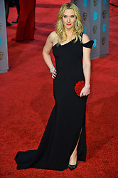 © Licensed to London News Pictures. 14/02/2016.  London, UK. KATE WINSLET arrives on the red carpet at the EE British Academy Film Awards 2016  Photo credit: Ray Tang/LNP