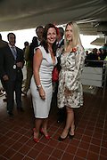 Davina McCall and Lady Alexandra Gordon-Lennox, Glorious Goodwood. 2 August 2007.  -DO NOT ARCHIVE-© Copyright Photograph by Dafydd Jones. 248 Clapham Rd. London SW9 0PZ. Tel 0207 820 0771. www.dafjones.com.