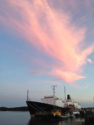 Dusk Cloud Formation Above T/V State of Maine, Castine, Maine, US